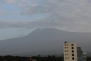 View of Kili from the Hotel