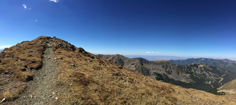 The final ascent to the top of Wheeler Peak