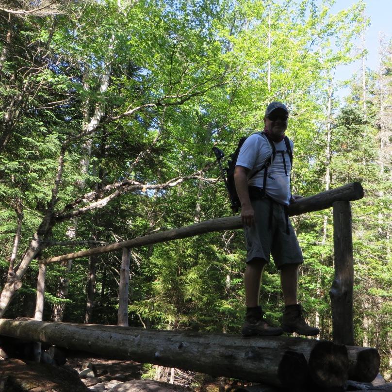Jason on the foot bridge